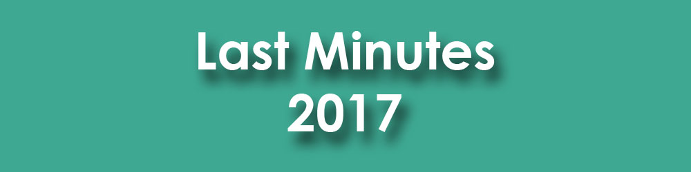 Last minutes 2017