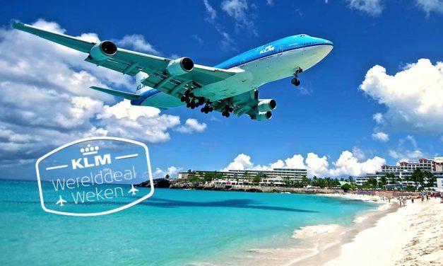 Wanneer zijn de KLM Werelddeal Weken in 2018?