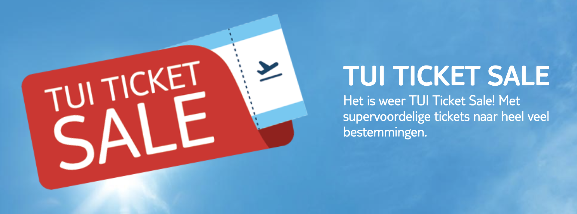 Ticket Sale TUI 2019