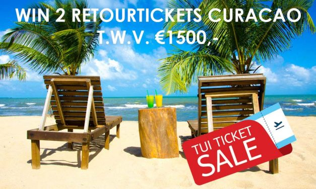 Win 2 retourtickets Curacao t.w.v. €1500,- tijdens de TUI Ticket Sale