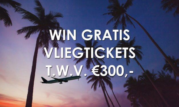 WIN 2 gratis retourtickets naar een Europese bestemming twv €300,-!