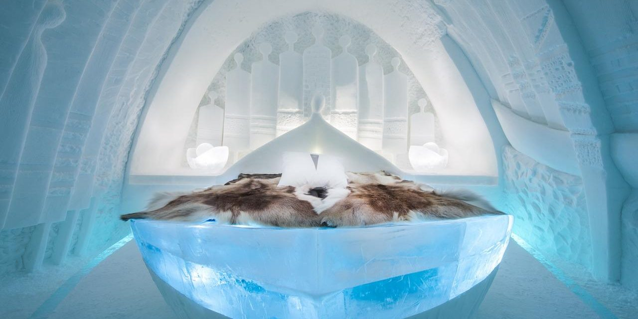 Uniek hotel: IJSHOTEL @ Zweden | incl. hottub + ijsbad (en Noorderlicht!)