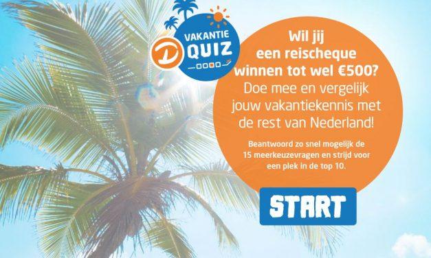 Win een D-reizen reischeque van €500,-   Test jouw kennis!