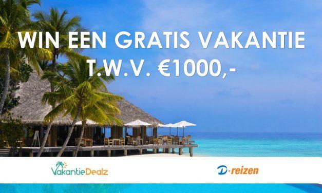 Win een GRATIS D-reizen vakantie t.w.v. €1.000,-