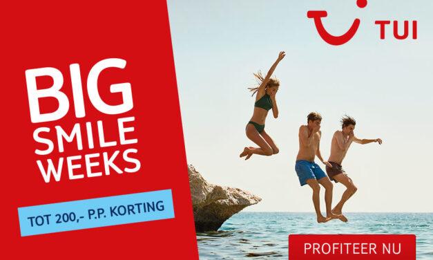 TUI Big Smile Weeks 2021 | tot €200,- korting op een vakantie naar keuze