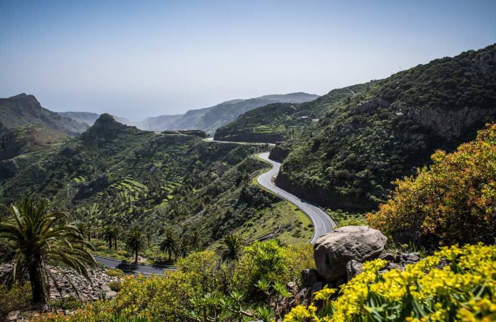 Autoweg in Gran Canaria voor excursie